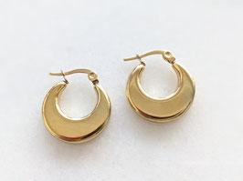 Goldene Creolen Ohrringe 14k Gelbgold Vergoldung Vintage Stil - Mittel