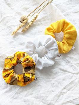 *Angeliquelini x Heavin* Scrunchie Set   Sonnenblumen • Leinen