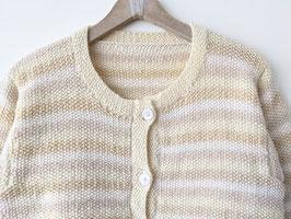 Strickjacke Handmade 100% Wolle Streifen *Premium Qualität* (M)