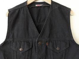 *Levis* Weste Jeans Orange Tab Schwarz Heavin (L-XL)