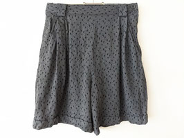 Bermuda Shorts Bundfalten Schwarz Grau Dots Heavin (XS-S)