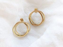 Ohrringe Gold 14k Vergoldet • Organic Round
