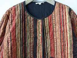 Blouson Jacke Azteken Ethno Print Steppung Rostrot Heavin (L-XL)