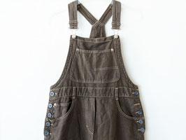 Latzkleid Lang 90s Kleid Braun Strukturiert Träger (M)