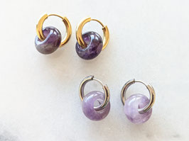 Creole Amethyst Lila Naturstein Upcycling Vintage