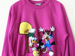 *Rare Disney* Sweater Donald Duck & Mickey Mouse Chenille Stitch (M-L)