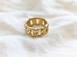 Ring Gold 14k Vergoldung Massiv Heavin • 80s Chain