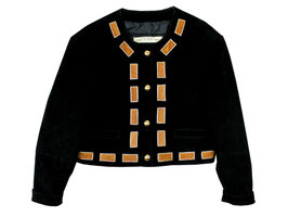 Wildleder Jacke Gold Patch (L)