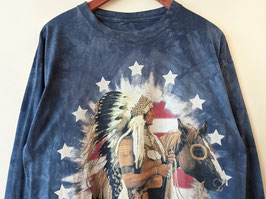 Longsleeve Natives USA Print Federn Batik (L)