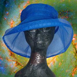 Blauer Sonnenhut aus Organdy