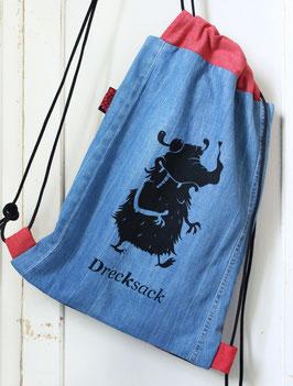 Rucksack | Drecksack | jeans-rot