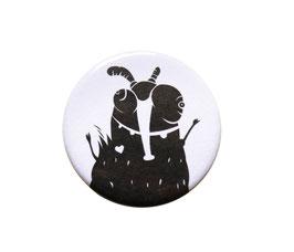 Button | Rüsselmücke | schwarz