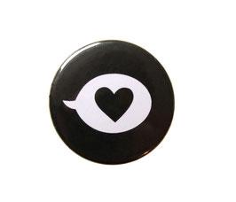 Button | Herz | schwarz