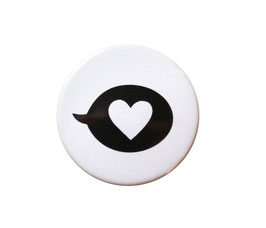 Button | Herz | weiß