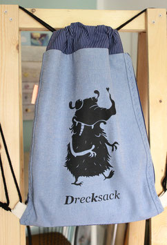 Rucksack | Drecksack | jeans-blau