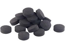Kohle 10er Rolle rund (1 Rolle mit 10 einzelnen Kohle Tabs)