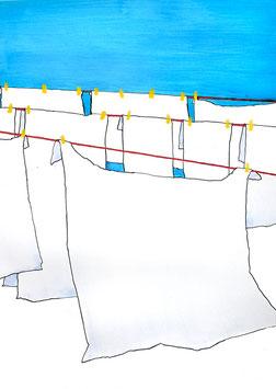 Wäsche im Freien aufhängen