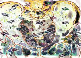 Ein Becken mit Fischen