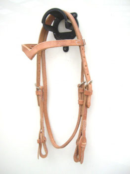"""Harness Kopfstück - Herman Oak Leather - """"V"""" -Stirnband - Quick Change"""