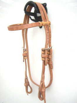 Harness Kopfstück - Herman Oak Leather - Stirnband - Quick Change