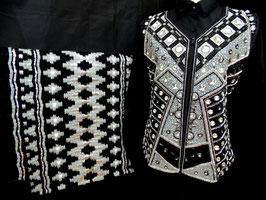 Show Weste schwarz silber Größe XL 44
