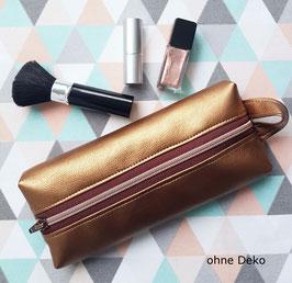 Kosmetiktasche Mäppchen Box Kupfer