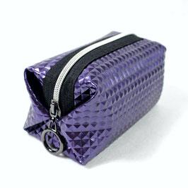 Kosmetiktasche Purple Metallic