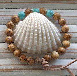 Jasper & Turquoise Gemstone Energy Bracelet