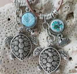 Ocean Energy Quartz Turtle Pendant