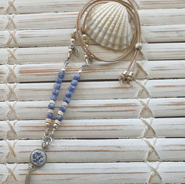 Blue Sodalite  Mini Necklace