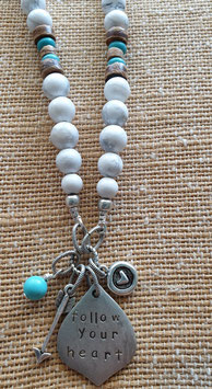 White Howlite Marrakesh Affirmation Necklace