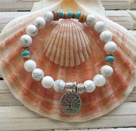 Howlite  Beach Energy Bracelet