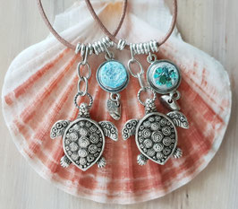 Ocean Energy Turquoise Turtle Pendant
