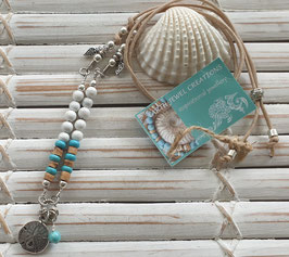 White Howlite Mini Ocean Necklace