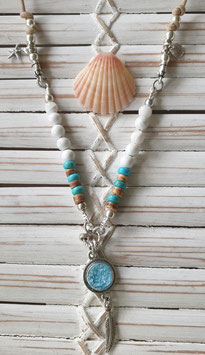White Howlite & Quartz Mini Necklace