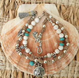 Silver Ocean Inspiration Gemstone Wrap