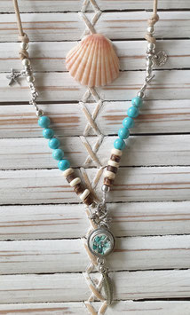 Turquoise  Mini Beach Necklace