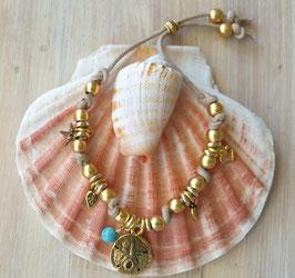 Gold  Ocean Vegan Cord Wristband