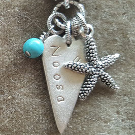 Beach Inspiration Heart Pendant