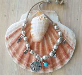 Silver Ocean Vegan Cord Wristband