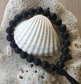 Men's Black Onyx Gemstone Energy Bracelet