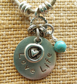 Love Life Inspiration Word Pendant
