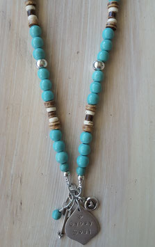 Turquoise Affirmation Marrakesh Necklace