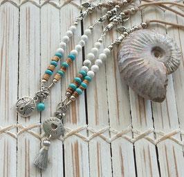 White Howlite Mini Ocean Necklace