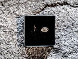 Hemdknopf Appenzellermotiv in echtem Silber 925