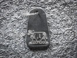 Schlüsselanhänger Kuh, Neusilber