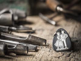 Schlüsselanhänger Tanzpaar, echtem Silber 925