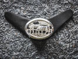 Brosche - Senn mit Kuh