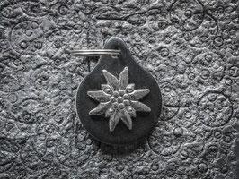 Schlüsselanhänger Edelweiss, Neusilber