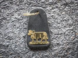 Schlüsselanhänger Kuh, Messing